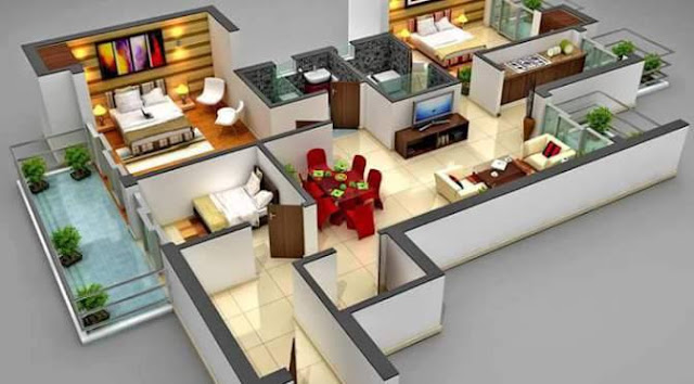 Kumpulan Denah Rumah Minimalis Modern 3 Dimensi Lengkap Dengan Detailnya