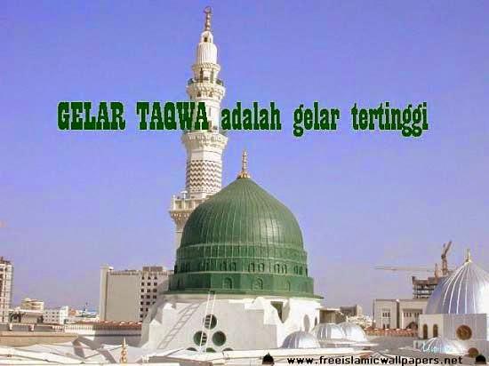 Gelar Taqwa adalah gelar tertinggi