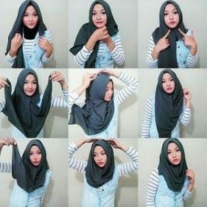 tutorial hijab segi empat terbaru