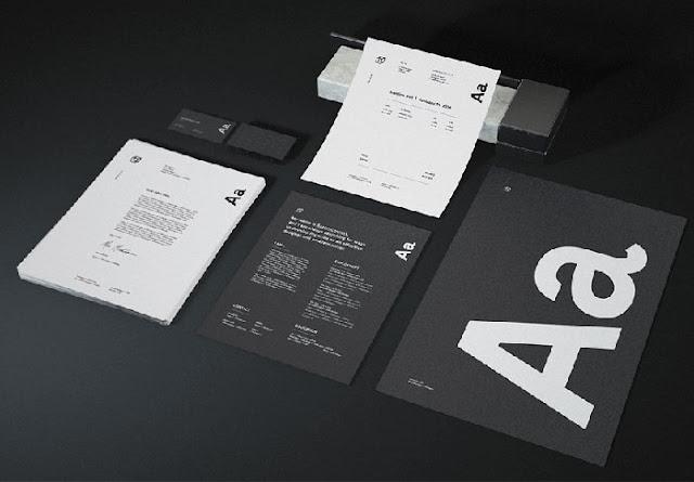 Free Dark Stationery Mockup PSD Bundle