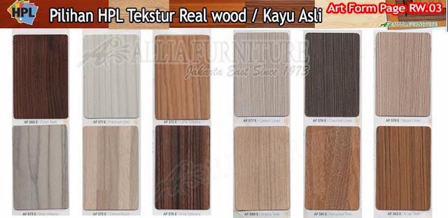 RW.03 HPL Art form motif tekstur kayu asli