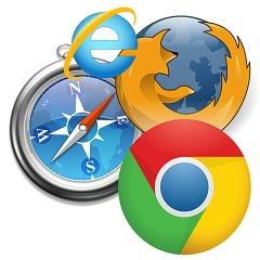Internet Explorer, Mozila Firefox, Google Chrome, Safari