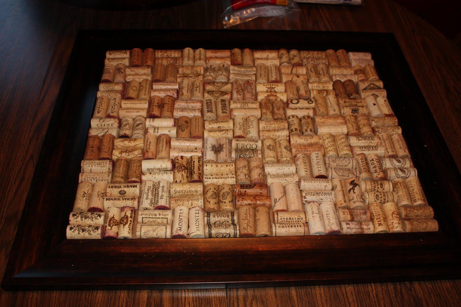 Mandy In Minneapoland: Wine Cork Art