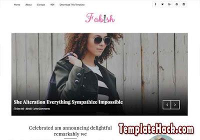 fabish slider blogger template premium