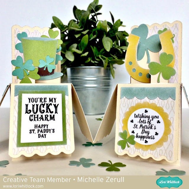 3D Shamrock St Patrick's Day Box Cards with Silhouette Cameo