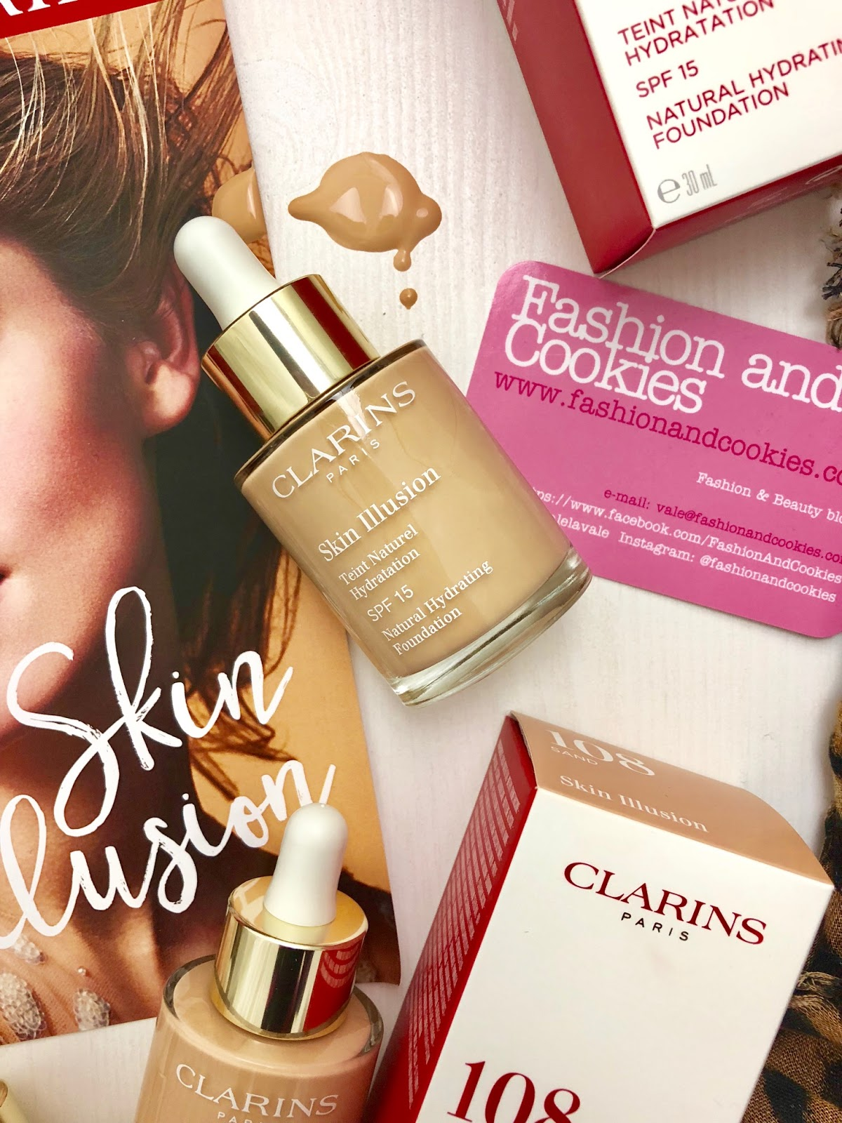 Skin Illusion di Clarins: nuovo fondotinta idratante effetto naturale su Fashion and Cookies beauty blog, beauty blogger