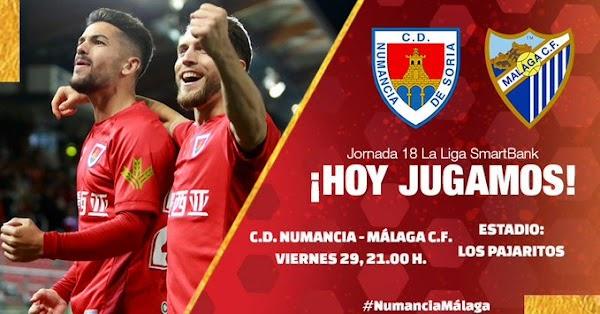 GOL ofrece hoy el Numancia - Málaga a las 21:00 horas
