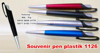 Barang Promosi Pulpen 1126, Souvenir pen plastik model 1126, pen promosi 1126, Ballpoint Promosi berbahan plastik