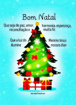 Bom Natal! Que seja de paz, amor, harmonia, esperança, reconciliação e muita fé. Que a luz do Menino  Jesus ilumine nossos dias.