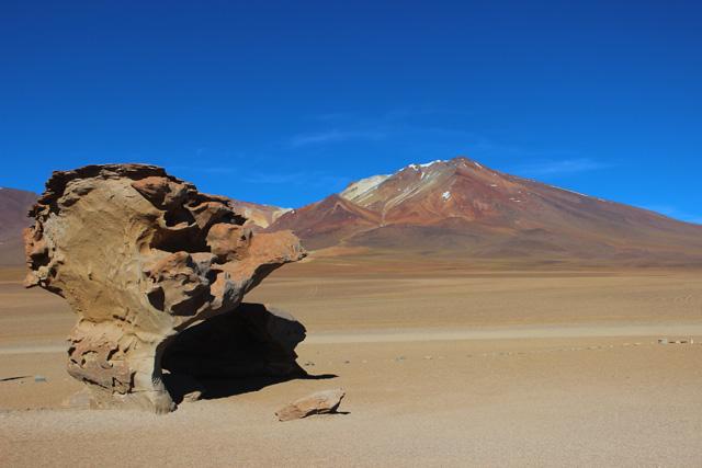 El 'Árbol de piedra', una roca volcánica erosionada por el viento