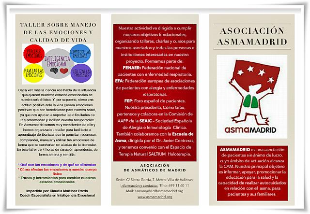 Taller sobre manejo de las emociones de Asmamadrid