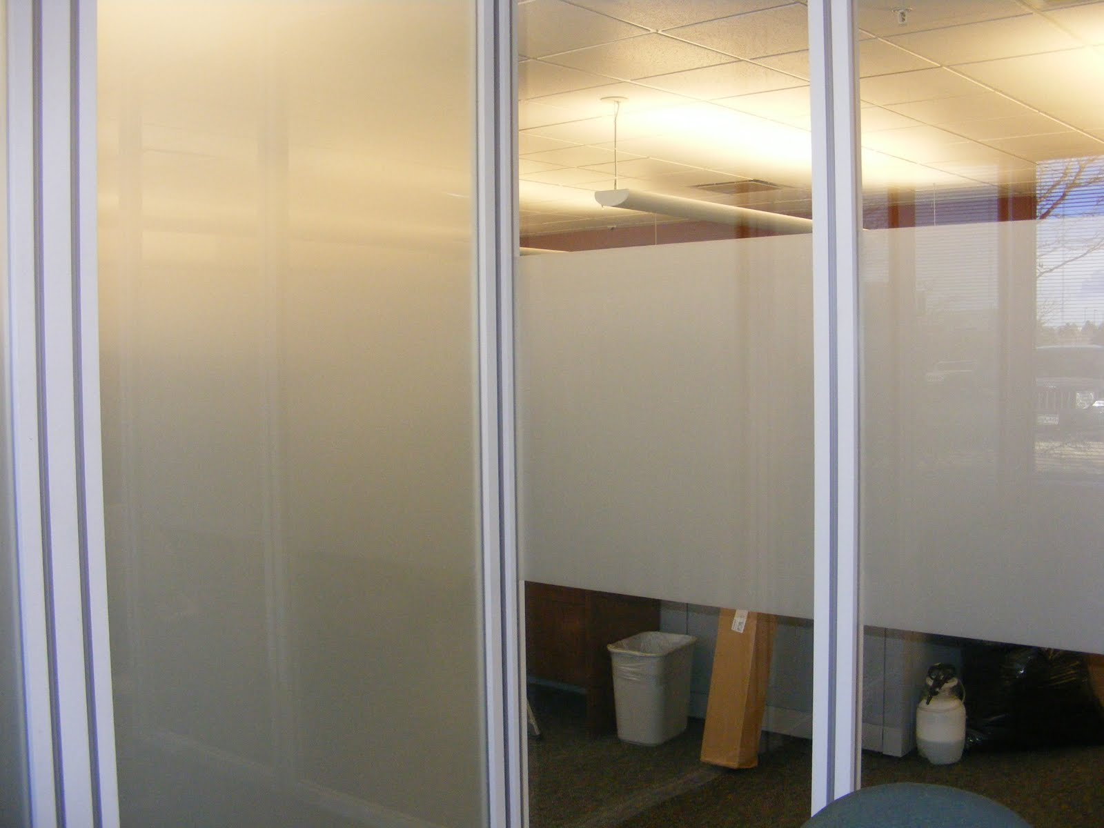 Clear View Window Films Frosted Window Film Provides