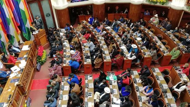 Sesión de Honor de la Asamblea Legislativa / ERBOL