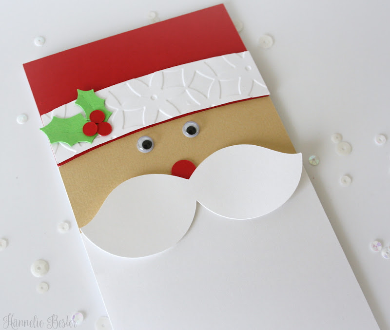 Cute Santa tall Christmas card