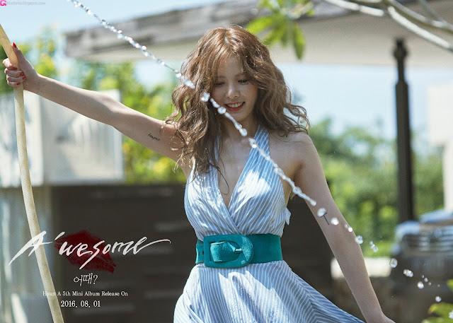 3 Kim Hyun Ah - A'Wesome Photobook BTS Pics - very cute asian girl-girlcute4u.blogspot.com