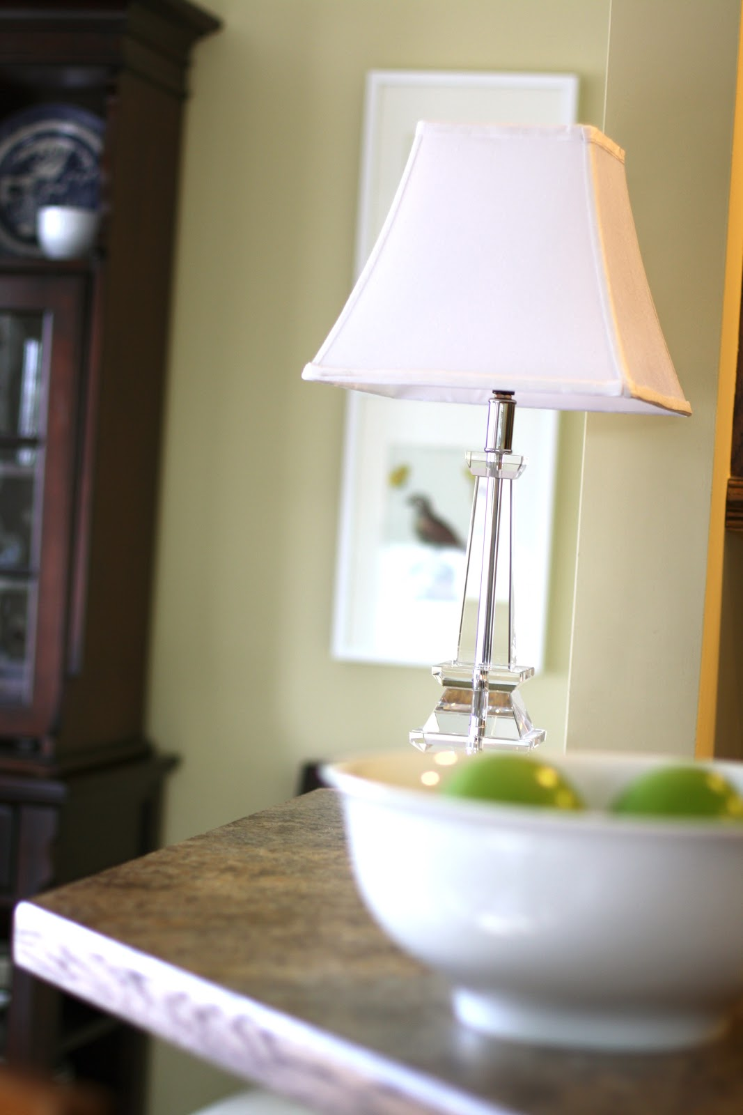 wrapped in raffia kitchen table lamp