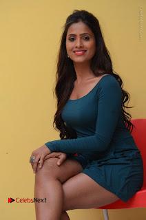 Telugu Actress Prasanthi Stills in Green Short Dress at Swachh Hyderabad Cricket Press Meet  0074.JPG