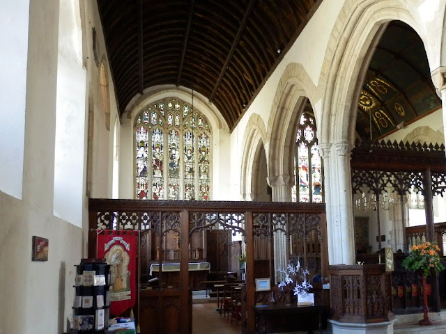 Inside Probus church, Cornwall