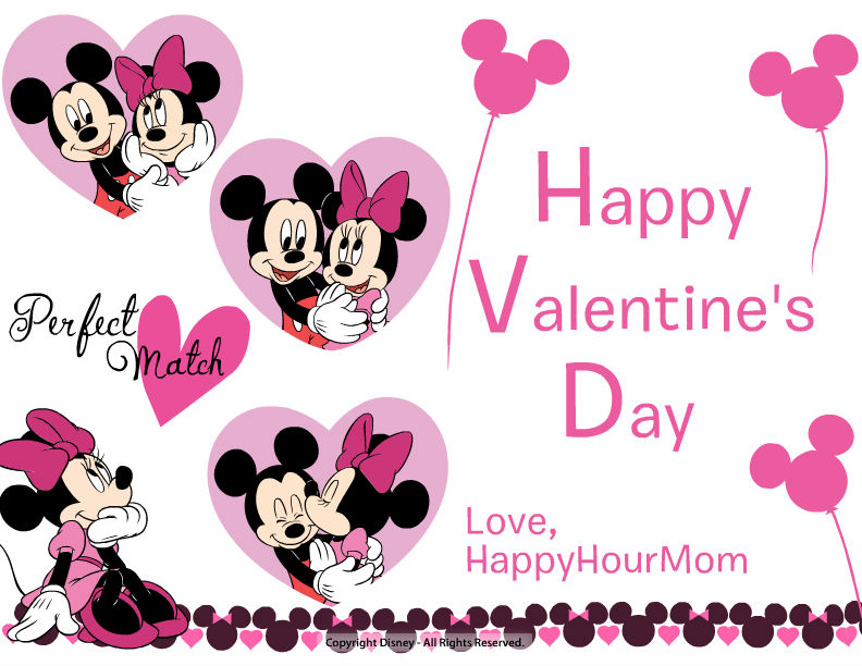 Happy Hour Mom Create Your Own Disney Valentine\u0027s Day Cards Online