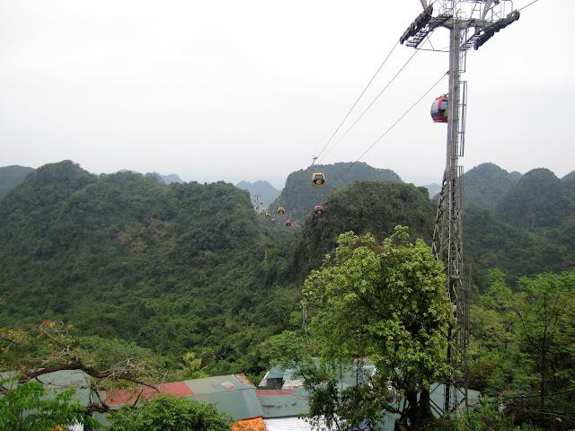 cable car perfume pagoda vietnam