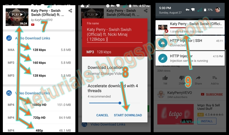 How to Download YouTube Videos or mp3 using your Android