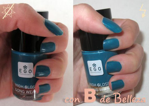 Laca de uñas turquesa high gloss