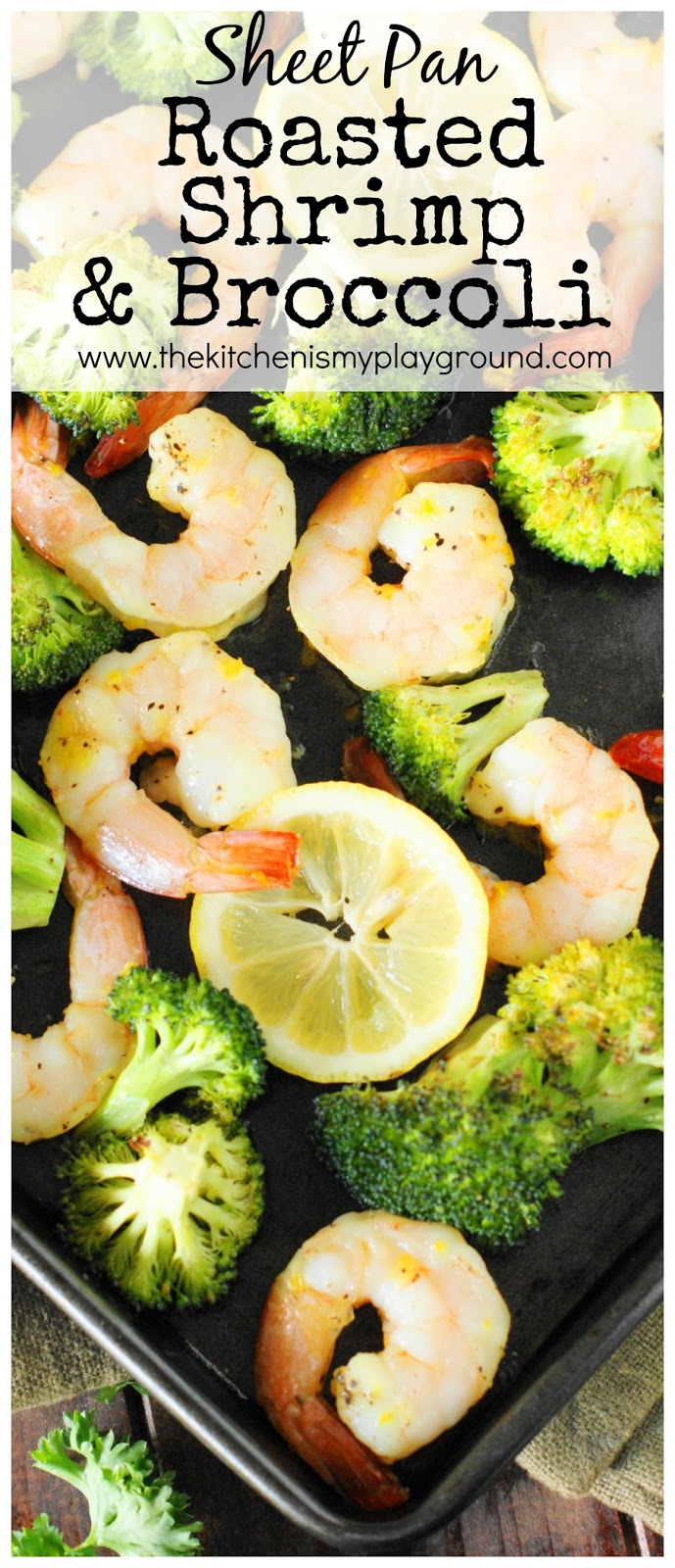 Roasted Shrimp Broccoli Sheet Pan Supper