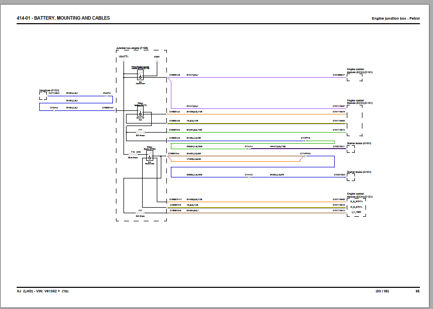 Jaguar Xj X351 2014 Wiring Diagram