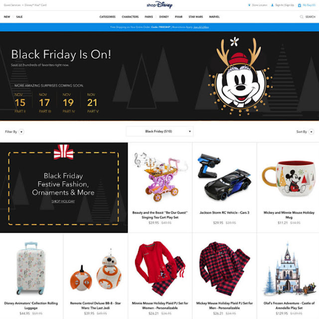 ShopDisney Black Friday 2017 Ad