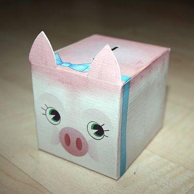Cute Papercraft Piggy Bank
