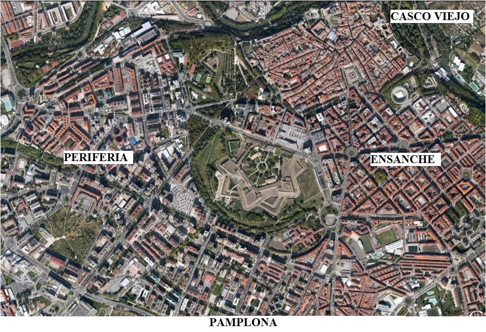Las historias de doncel comentario de un plano urbano - Pamplona centro historico ...