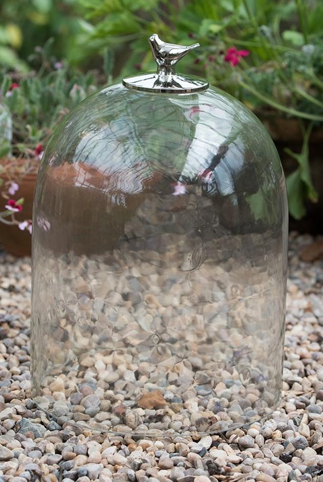 campana de cristal para proteger plantas jóvenes y plántulas en invierno
