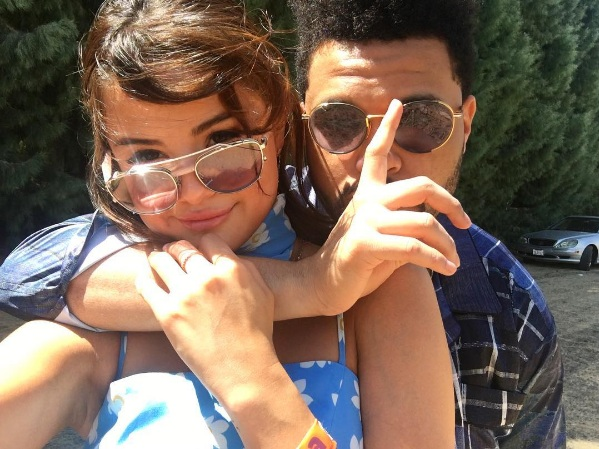 Adorable picture of Selena and Abel (The Weeknd) posted by Selena Gomez in Instagram