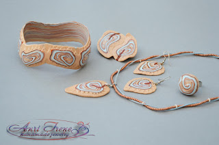 Polymer clay jewellery set