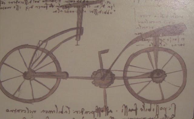 Desenho original da bicicleta de da Vinci - Leonardo da Vinci's Original sketch of his bicicle concept