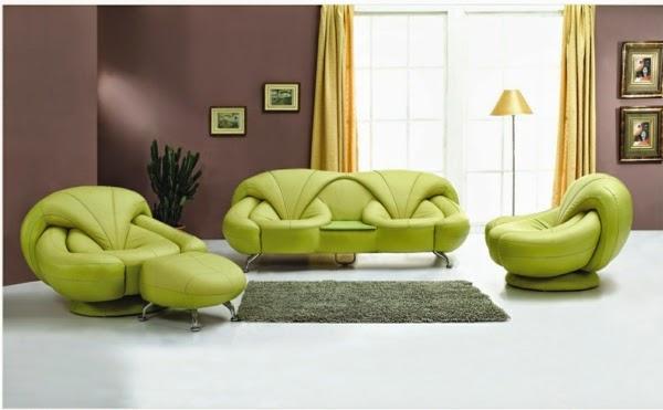 Salas con sof verde salas con estilo for Paredes moradas decoradas