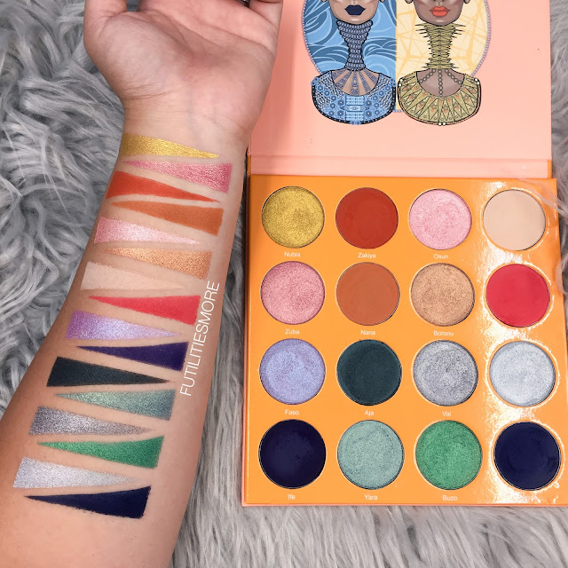 JUVIA'S PLACE MAGIC PALETTE SWATCHES