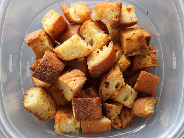 The Best Homemade Croutons | A Hoppy Medium