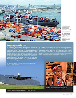 Apoyo Primaria Atlas de Geografía del Mundo 5to. Grado Capítulo 4 Lección 3 Transporte y Comunicaciones