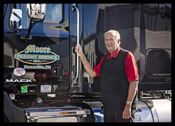 Dan Moore with Mack Pinnacle at Moore Freight in Mascot, Tennessee