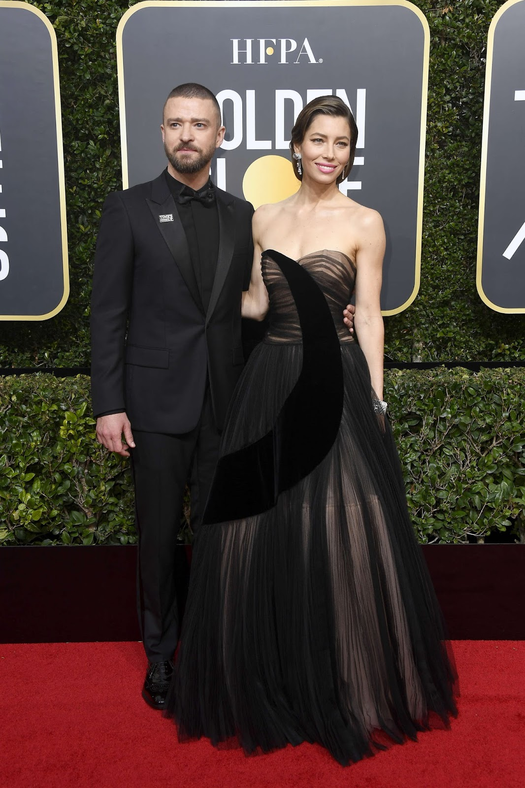 Jessica Biel and Justin Timberlake at 75th Annual Golden Globe Awards