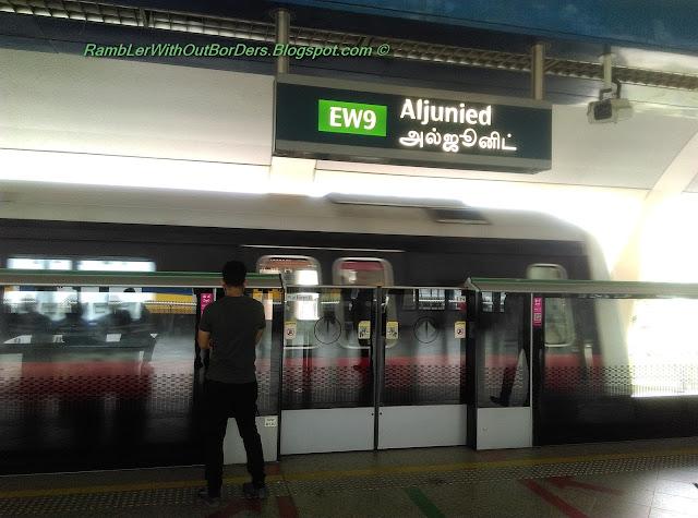 MRT station platform, Aljunied, Geylang, Singapore