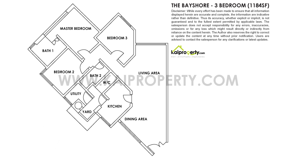 The Bayshore 3 Bedroom Floor Plan