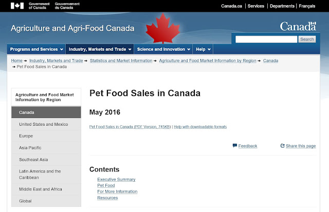http://www.agr.gc.ca/eng/industry-markets-and-trade/statistics-and-market-information/agriculture-and-food-market-information-by-region/canada/pet-food-sales-in-canada/?id=1464791074067