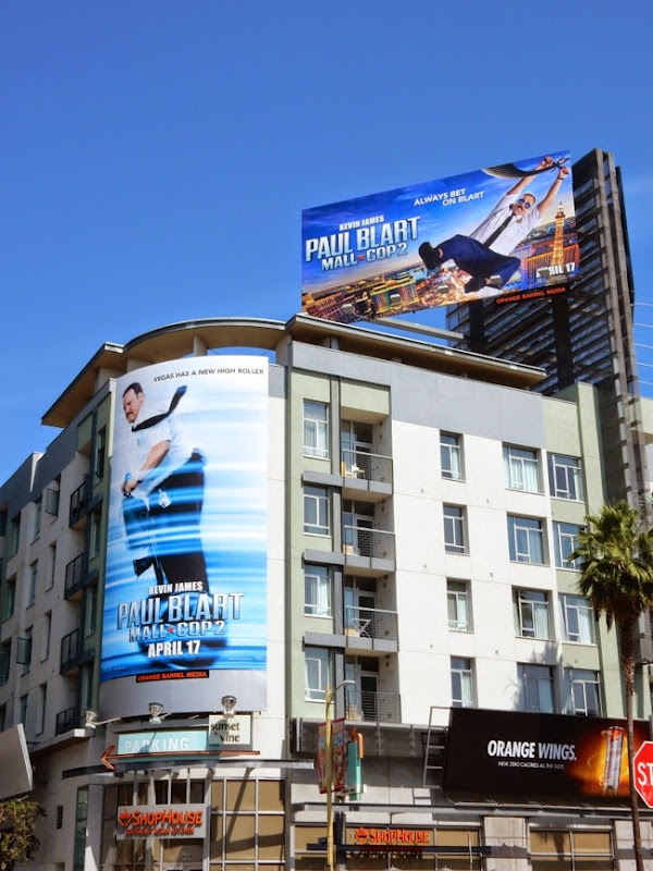 Paul Blart Mall Cop 2 movie billboards