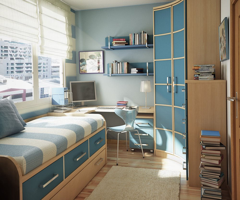 Teen bedroom designs: Modern Space saving ideas ... on Room Decorations For Teens  id=89264