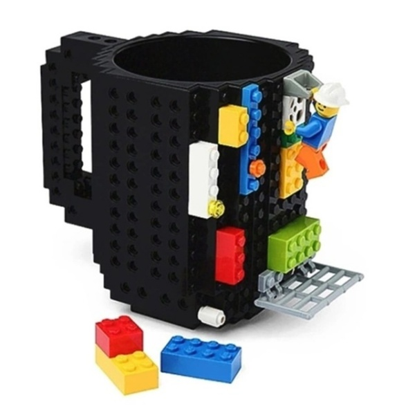 Creative Coffee Cup Build-on Brick Mug Drinking Water Holder for LEGO Building Blocks Design
