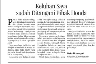 Tulisan Deka yang Terbit di Media Indonesia 4 Oktober 2018