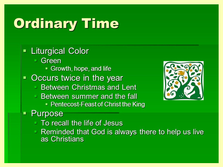 Voices: Ordinary Time in the Liturgy