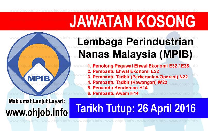 Jawatan Kerja Kosong Lembaga Perindustrian Nanas Malaysia (MPIB) logo www.ohjob.info april 2016